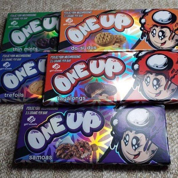one up mushroom chocolate bars